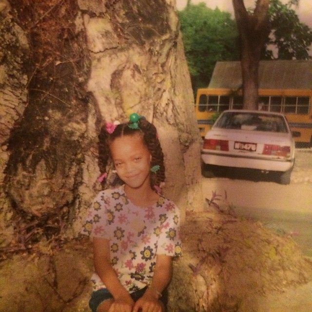 ... Entertainment » Rihanna posts innocent childhood photo on Instagram