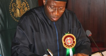 President Jonathan Signs 2015 Appropriation Bill Into Law