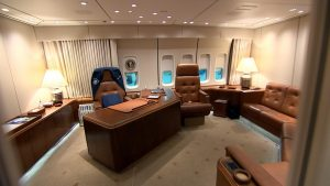 The Oval Office of the Air Force One