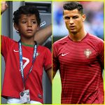 VIDEO: Christiano Ronaldo's Son Scores Lovely Freekick Just Like Dad