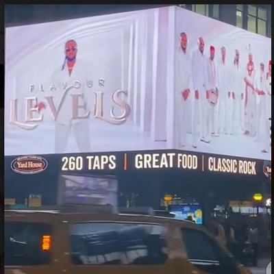 Flavour's new 'Levels' video makes it to Times Square billboard, New York